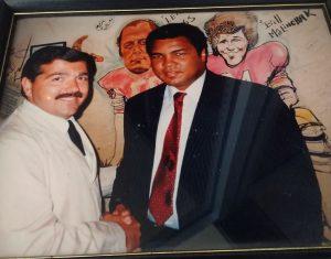 Muhammad Ali and Chuck Koskinas - The Palm Restaurant Washington DC