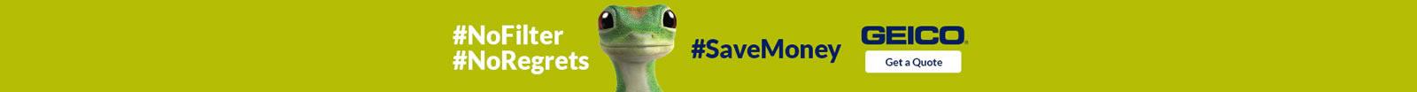 GEICO web hashtag banner