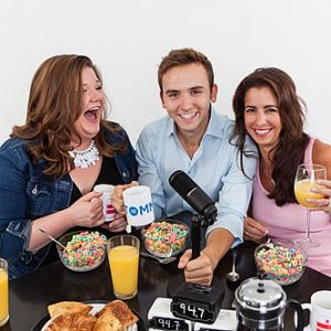 94.7 Fresh FM's Jen Richer, Tommy McFly and Kelly Collis