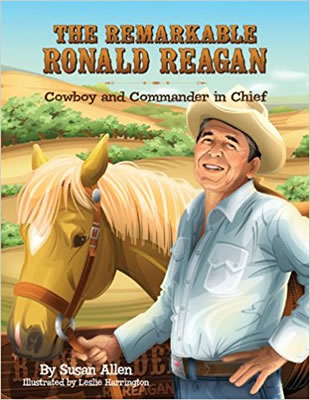 The Remarkable Ronald Reagan children's book cover