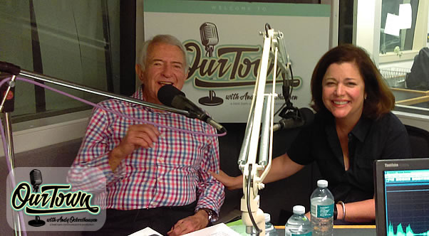 Andy Ockershausen and Jackie Bradford in studio Our Town interview