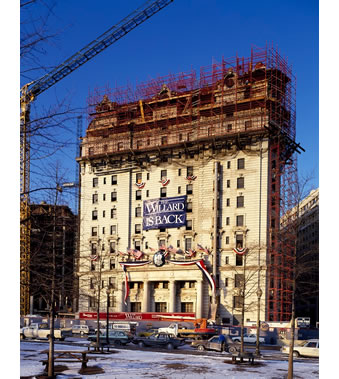 The Willard Hotel Under Renovation in 1980s, Washington, DC, Carol Highsmith, photographer