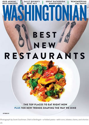 Washingtonian September 2017 Cover