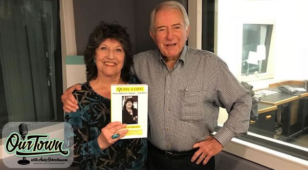 Former DC Councilwoman and Author, Carol Schwartz and Our Town host Andy Ockershausen in studio