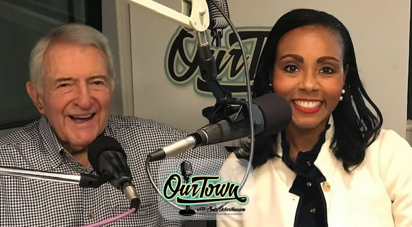 Tycely Williams, Development Consultant to Non-Profits and Andy Ockershausen in studio