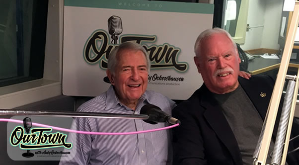 John Lyon - Retired Announcer and WMAL Swingman - and host Andy Ockershausen in studio interview
