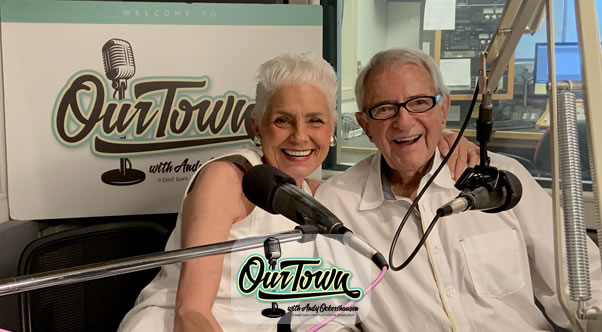 Marianne Haney Brennan and host Andy Ockershausen in studio interview